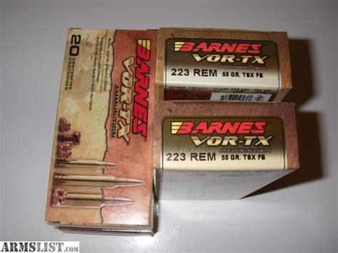223 Rem -- Barnes 55gr Vor-tx Tsx Fb
