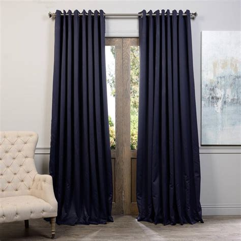 navy blue blackout curtains exclusive fabrics furnishings navy blue grommet