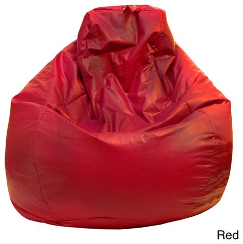 gold medal large vinyl teardrop bean bag contemporary
