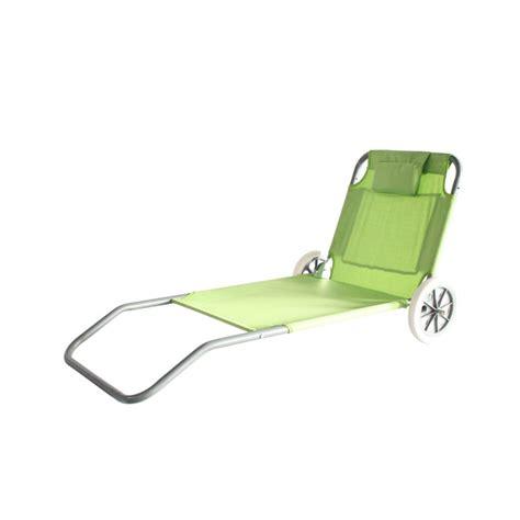 chaise de plage carrefour chaise de plage pliable à roulettes electro dépôt