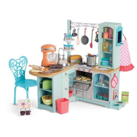 New American Girl Gourmet Kitchen Set For 18 Inch Tall