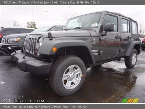 granite metallic 2017 jeep wrangler unlimited