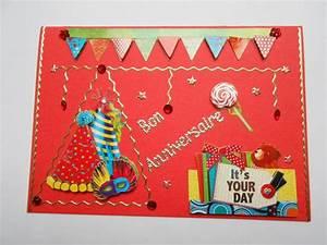 Carte Anniversaire Pour Enfant : carte d 39 anniversaire pour enfant motifs en 3d cartes 3d ma carterie fait maison ~ Melissatoandfro.com Idées de Décoration
