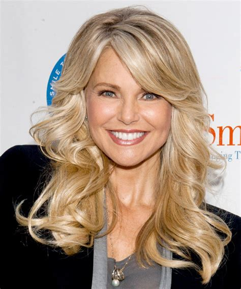 christie brinkley wavy formal hairstyle with side