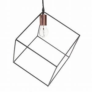 Suspension Maison Du Monde : suspension en m tal noir d 27 cm cube maisons du monde ~ Preciouscoupons.com Idées de Décoration