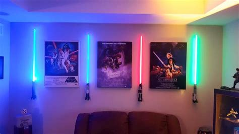 wall mounted lightsaber but with no sound lightsabers