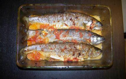 cuisiner les truites recette truite au plemousse 750g