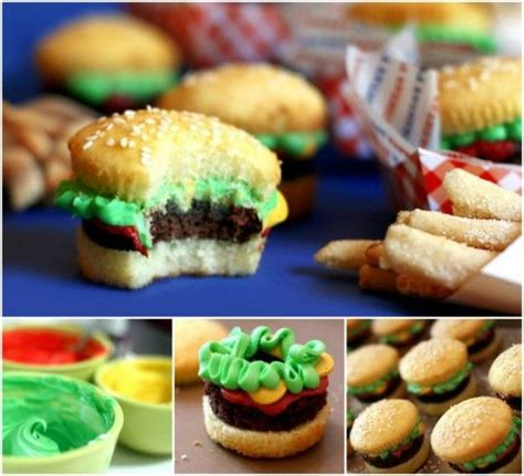 ideas  burger cupcakes  pinterest
