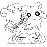 Hamtaro Coloring Pages Picgifs Printable Cartoon Books Series Tv sketch template