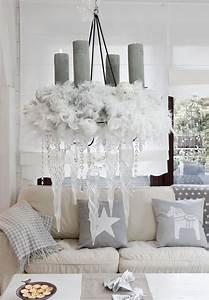Deko In Weiß : wohnzimmer zu weihnachten dekorieren 35 inspirationen ~ Yasmunasinghe.com Haus und Dekorationen