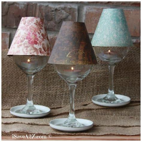 wine glass lamp shade diy project isaveazcom
