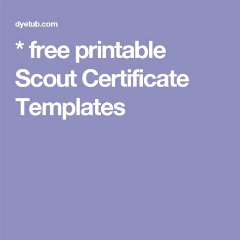 Scout Certificate Templates by 1000 Ideas About Free Certificate Templates On
