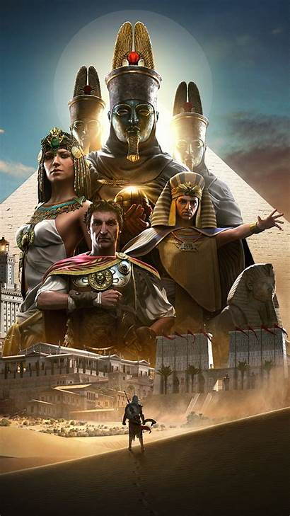 Creed Origins Assassin Wallpapers Warriors Caesar Cleopatra