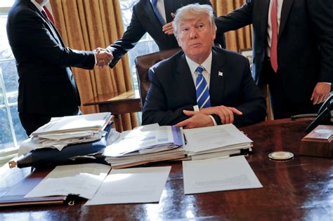 what desk is trump using what the unemployment drug testing bill that trump just