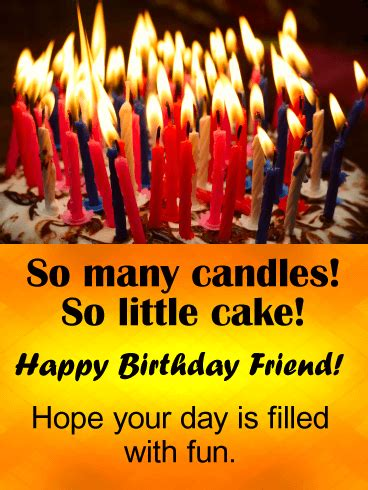 candles funny birthday card  friends