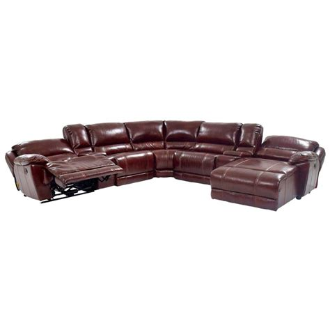 el dorado furniture leather sofas theodore burgundy power motion leather sofa w right chaise