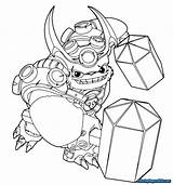 Skylanders Trap Team Wallop Coloring Pages Plush Disegni Luck Tuff Superchargers Hammer Pages2color Template Sketch sketch template