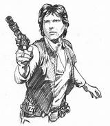 Han Solo Drawings Wars Outline Deviantart Coloring Comic Ssava Drawing Draw Death War Scott Fan Episode Starwars Stay sketch template
