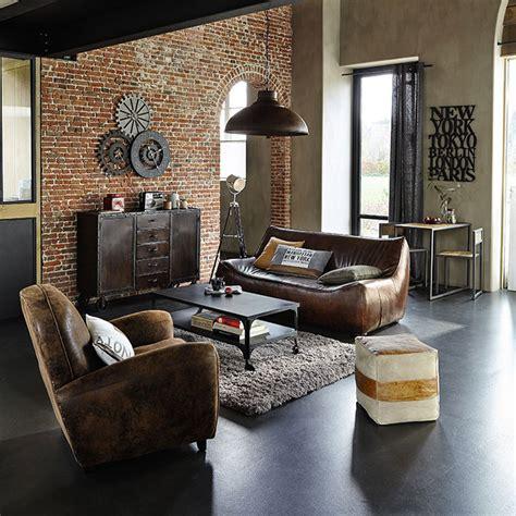 gros coussin pour canapé meubles déco d intérieur industriel maisons du monde