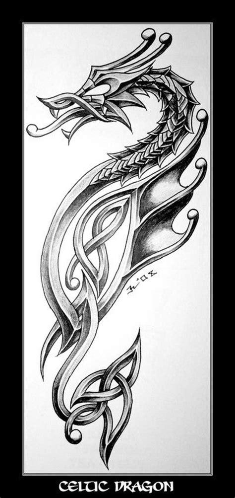 celtic dragon tattoo design ink ideas pinterest