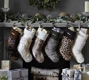 Faux Fur Stockings potterybarn Holidays