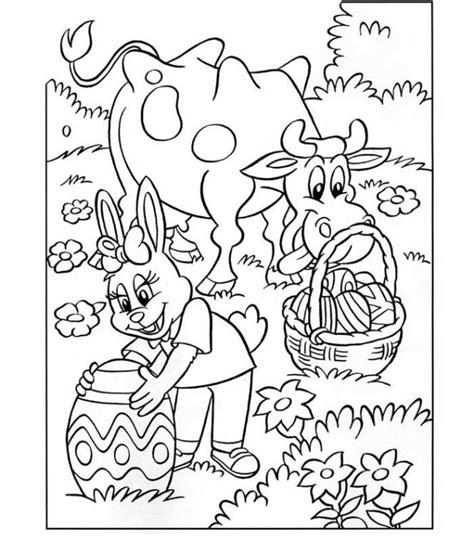 Paasmandje Kleurplaat by Pasen Kleurplaten Voor Pasen Paasmandjes Paaseieren