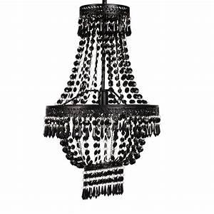 Lustre Metal Noir : lustre pampilles en m tal noir maisons du monde ~ Teatrodelosmanantiales.com Idées de Décoration