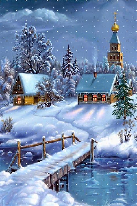 winter scenes wallpaper  iphone wallpapersafari
