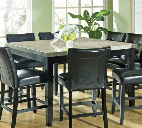 granite top kitchen table set beautiful granite dining table set homesfeed