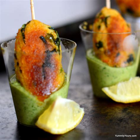 indian canape cocktail idli kebabs with chutney recipe