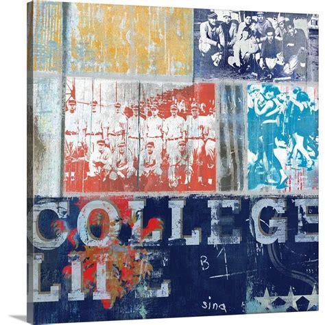 greatbigcanvas college life mini  david fischer canvas