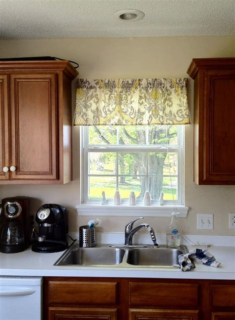 ideas for kitchen windows kitchen window valance ideas window treatments design ideas