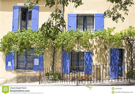 european cottage house plans house blue shutter provence royalty free stock