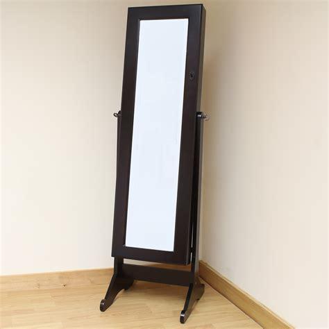 floor mirror length hartleys brown full length floor standing mirror jewellery cabinet organiser box ebay