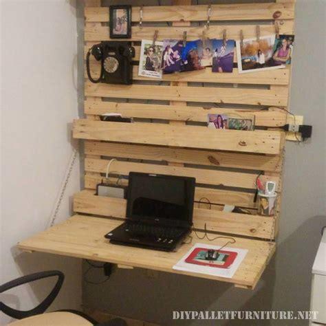 bureau palette bureau pliage avec palettes pliage palette et mur