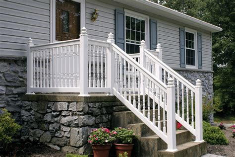 vinyl porch railing vinyl deck railing installation founder stair design