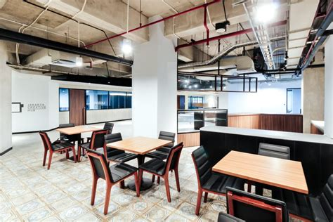 ciri desain interior kantor bergaya industrial gema