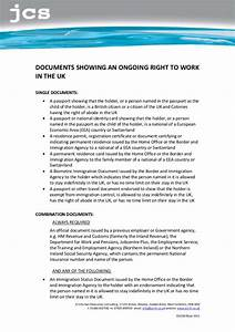 eligibility to work in the uk list a and b documents With list b documents
