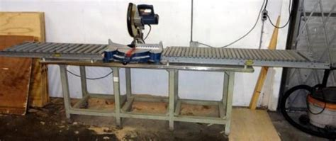 mobile table saw stand cutting station with ryobi chop saw model no ts1550