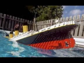 sinking lego titanic 7 foot model daikhlo