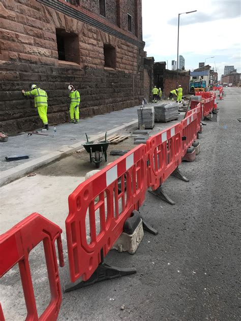 dock weeks liverpool four close road works pavement corridor undertake osborne widening associated essential such key north project