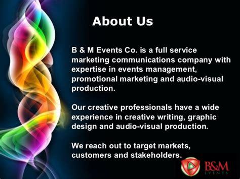 B&M Events Company Profile