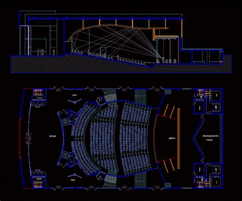 theater dwg full project  autocad designs cad