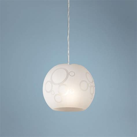 circles frosted glass pendant light