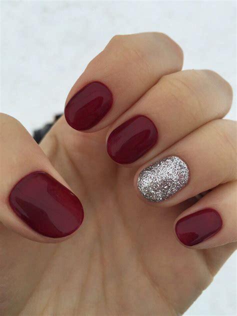nail art  beauty nails maroon nails short