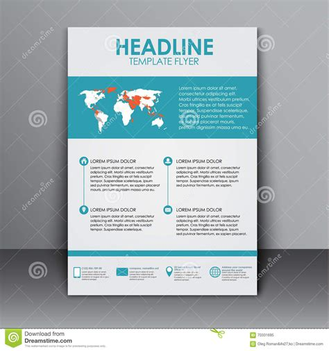 Template Flyer With Information For Advertising Stock
