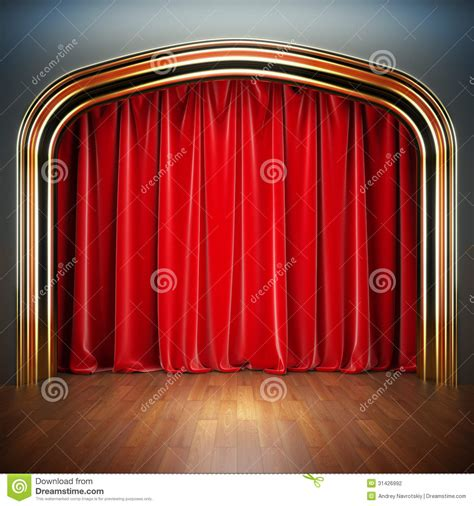 empty stage stock photography image