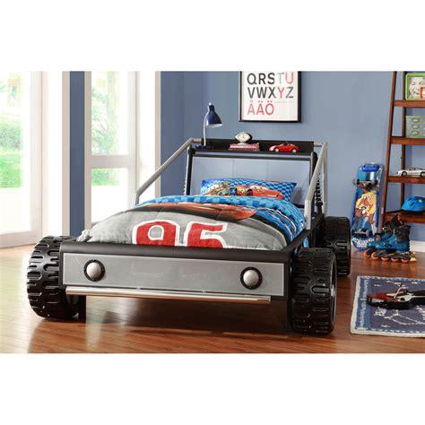 designer kinderbett bed kiran toddler s silver race car size bed detode