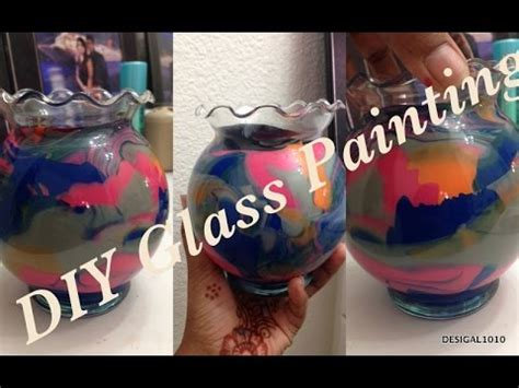 glass painting ideaseasy home decor craft ideas