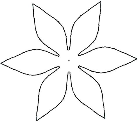 printable flower template cut out 8 best images of flower petal templates printable 8 petal flower template flower